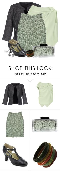 """""""Tweed Skirt & Kitten Heels"""" by pinkystyle ❤ liked on Polyvore featuring ONLY, Roland Mouret, St. John, Stefanie Phan and Funtasma"""