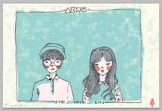 "AKMU ""Eyes, Nose, Lips"" fanart"