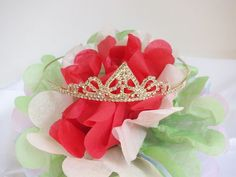 Bridal Rhinestone Crystal Prom Crown Hair Tiara Golden Sweet Sixteen