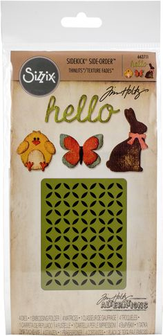 Sizzix Sidekick Side Order Thinlits 4 pc Die Set 664151 Critters by Tim Holtz Alterations