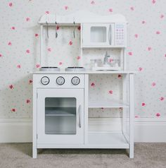 Children's Wooden Play Kitchen White Learning Cooking Role Toy Kids Pretend 5060495613487 | eBay