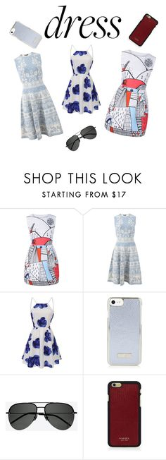 """""""DRESS"""" by larascoolchanel ❤ liked on Polyvore featuring Alexander McQueen, Yves Saint Laurent and Vianel"""