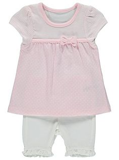 2 Piece Top and Shorts Set, read reviews and buy online at George at ASDA. Shop from our latest range in Baby. Complete their mini outfit collection with thi...