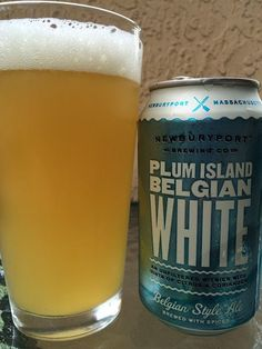 I really enjoyed Newburyport Brewing's Melt Away Session IPA so I moved on to a can of their Plum Island Belgian White, a Belgian-style. Belgian White Beer, Plum Island, Beers Of The World, Joy Of Living, Belgian Style, Beer Brands, Beer Lovers, Brewing Co, Craft Beer