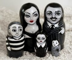Someone might still remember my old Addams Family matryoshkas , and I now I have created another set! Very similar one (as the client r...
