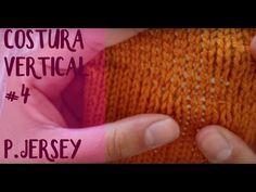 Unir tejidos: costura lateral invisible en punto bobo #1 (dos agujas) - YouTube