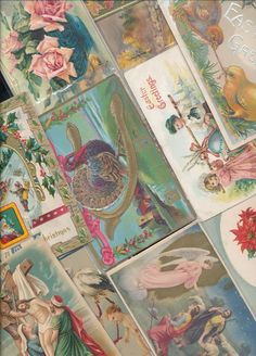 Antique  Mixed Lot of 25 Holidays & Greetings  Postcards-Vintage-a-645 #holidaypostcardlot
