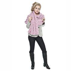 Pelerine rosa com tranças Tafetá