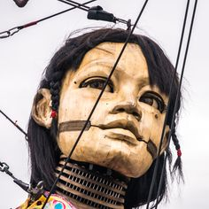 LITTLE GIRL GIANT - While I went to see the Royal de luxe giant puppets in Liverpool, I was amazed by their sheer size, ingenuity and beauty! This is the Little Girl Giant Don Juan, Gouda, Photography Portfolio, Puppets, Liverpool, Places To Travel, Little Girls, Wanderlust, Nantes