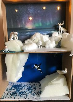 School Projects, Projects For Kids, Diy For Kids, Art Projects, Arctic Fox Habitat, Crafts To Do, Crafts For Kids, Ecosystems Projects, Animal Habitats