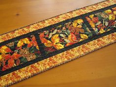 Quilted Table Runner Woodland Rustic Fall Thanksgiving Home Decor by PatchworkMountain, $49.00 USD
