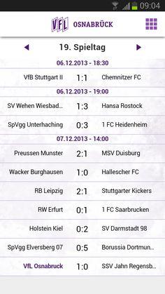 VfL Osnabrück App - aktueller Spieltag