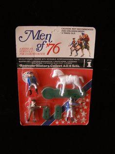 Men Of 76 Revolutionary War Play Set Figures vintage #vintagetoys #toys #playsetfigures #collectibles