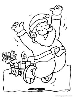 free printable santa claus coloring pages for kids - Santa Claus Coloring Pages Free Printables