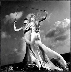 Helmut Newton fencing ladies