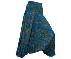 Women's Colorful Thai Harem Pants by AsianCraftShop on Etsy, $20.00