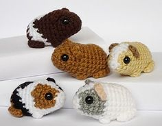 Newborn Baby Guinea Pigs - Free Amigurumi Patterns