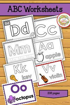 208 Pages! So many ways to learn! Abc Tracing, Name Tracing Worksheets, Tracing Letters, Alphabet Worksheets, Learning Resources, Teacher Resources, Teaching Ideas, Learn To Spell, Learn To Count