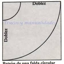 Resultado de imagen de patron falda circular