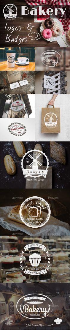 Bakery Logos & Badges - Badges & Stickers Web Elements