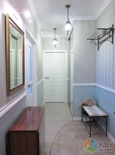 В полосочку или как поднять потолок. Mirror, Interior Design, Bathroom, Furniture, Home Decor, Entry Ways, Doors, Design Interiors, Bath Room