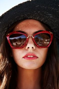 Red Sunglasses by Miu Miu