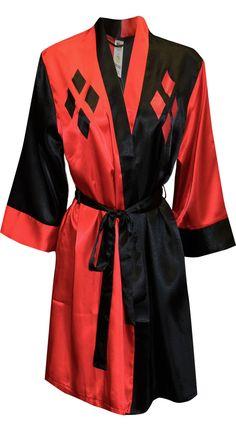Dc Comics Harley Quinn Satin Robe for women (One Size)
