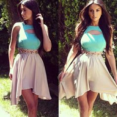 I fell in love with this outfit Pretty Dresses, Sexy Dresses, Beautiful Dresses, Casual Dresses, Summer Dresses, Beige Dresses, Beautiful Women, Buy Dress, Dress Up