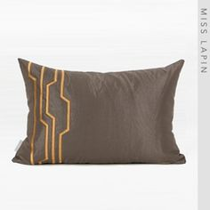 MISS LAPIN澜品简约现代/靠包靠垫抱枕/米灰色梯形双色绣花腰枕 Cushions, Curtains, Throw Pillows, Artworks, Dressing, Toss Pillows, Blinds, Toss Pillows, Pillows
