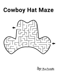 Mazes For Kids Printable, Worksheets For Kids, Free Printable, Easter Printables, Cowboy Hat Crafts, Activity Sheets For Kids, Kids Sheets, Pre K Schools, Preschool Activities At Home