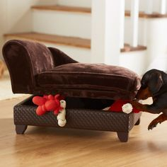 Enchanted Home Pet Ultra Plush Storage Bed in Brown