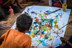 Art lesson in action, UWS Ka Narng Ket, Cambodia. UWS Ka Narng Ket School was completed June 2014. The school will open in October 2014, with 3 classrooms, solar power, a well, toilets and a teacher house.