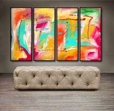 "'Beautiful Spring II' - 48"" X 30"" Original Abstract Art Painting"