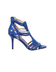 Sachi Shoes Hannah Charging Heels in Dazzling Blue Silver