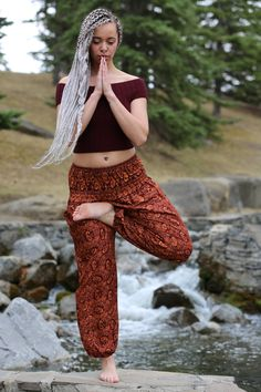 South East Asia Spice coloured Yoga Pants from Champa Clothing. Yoga Pants, Harem Pants, Stylish Outfits, Spice, Asia, Fitness, Clothing, Color, Fashion