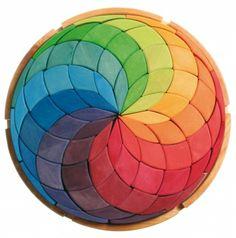 Grimm Holzspielzeug - Großes Legespiel Kreis Farbspirale