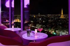 Bar La Vue - Panoramic view of Paris from the 34th Floor of Hotel Concorde La Fayette!!