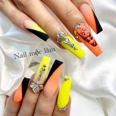 Neon Nails, Nails Design, Beauty, Beauty Illustration, Nails