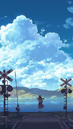 Anime/Original Wallpaper ID: 781389 - Mobile Abyss Anime Backgrounds Wallpapers, Anime Scenery Wallpaper, Landscape Wallpaper, Animes Wallpapers, Aesthetic Japan, Aesthetic Anime, Sky Anime, Anime Summer, Scenery Background