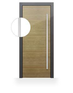Modern front door handle.