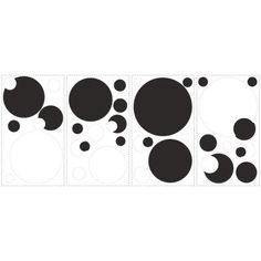 RoomMates - Black and White Chalkboard Dots Peel & Stick Wall Decals - RMK1311SCS - Home Depot Canada