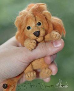 Beautiful Needle felting wool cute animals lion (Via @irina_polly )