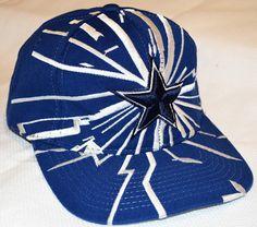 Vintage 90s STARTER PRO LINE NFL Dallas Cowboys Lightning Snapback Hat 651ba3006