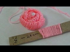Hand Embroidery: Making Rose Flowers with Simple Trick Hand Embroidery:Wow Amazing Hack Trick Making Fluffy flower With Fork,Easy Flower Trick A short video I made for my mother who was having trouble learning the decrease for her first afghan. Hand Embroidery Flowers, Hand Embroidery Stitches, Silk Ribbon Embroidery, Hand Embroidery Designs, Embroidery Kits, Paper Embroidery, Hand Stitching, Crochet Flowers, Fabric Flowers