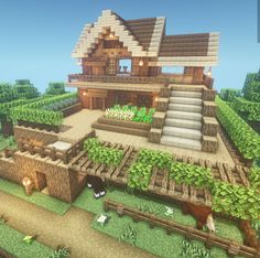 Minecraft Farm, Cute Minecraft Houses, Skins Minecraft, Minecraft Castle, Minecraft Medieval, Minecraft Plans, Amazing Minecraft, Minecraft House Designs, Minecraft Construction
