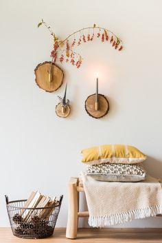 Selbstgemachte DIY Wanddeko für den Herbst aus Baumscheiben mit einfacher 15 Minuten Anleitung // leelahloves.de