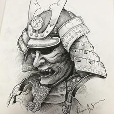 #samuraihelmet #samurai #sketch