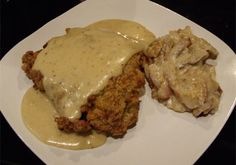 Gluten Free Chicken Fried Steak and Gravy.  This is the best I've ever had gluten free or not.  Everyone I've made it for LOVES it and they can't tell it's gluten free.