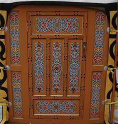 Mongolian yurt door