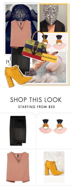 """Amiclubwear.com 1"" by k-lole ❤ liked on Polyvore featuring Topshop and Gucci"